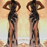 Sexy nera nero 2019 lunghi sirena abiti da ballo di Pomme di Svey Sweep Abiti da sera Abiti da sera indossare abendkleider speciale occasione Dres