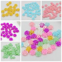 Wholesale New Fashion 300Pcs 12mm Multi Craft ABS Rose Flowe...