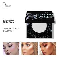 푸다 이에 다이아몬드 쉬머 페이스 하이 라이터 파우더 팔레트 착용하기 쉬움 글로우 하이라이트 컨투어 브론저 메이크업 일루미네이터 킷