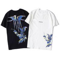 2020 Футболка Hip Hop Мода Bird Печать Мужская футболка с коротким рукавом высокого качества Мужчины Женщины Футболка Polo Размер S-XXL