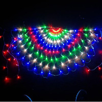 3M 412LED 3pcs Wedding Party Luz Peacock Cortina sincelo Cordas Natal Luz malha Net Fada Garland Fundo Luz