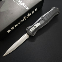 Benchmade Mini Infidel Çift etkili Otomatik 3350 3300 3310 3310BK D2 Çelik Çift bıçaklı EDC Cep Taktik dişli Survival Knife Bıçak