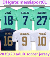 2019/20 Real Madrid Soccer Jersey Home Away Troisième Risque Chemise de football Asensio Isco Marcelo 2019/2020 Real Madrid Football Shirt