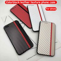 For iphone xs max phone case carbon fiber leather texture ca...