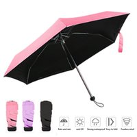 Anti-UV Impermeable Portable Travel Umbrellas Mini Pocket Umbrella para Sun Parasol Five Fold Women Gift Folding Small Rain Gear