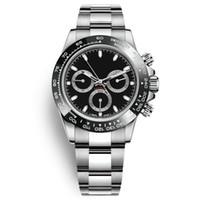 Reloj para hombre lleno de acero inoxidable Japón VK64 cronógrafo Movimiento del reloj para hombre resistente al agua 5 ATM luminoso Diver montre reloj de moda de lujo