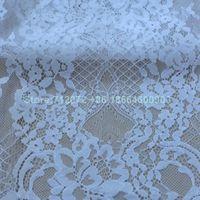 Kumaş la belleza düğün dreess Fransız dantel 55 '' genişlik 3 metre uzunluğunda parça
