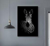 Afrika Vahşi Hayvanlar Tuval DIY Ahşap Katı Çam Ahşap Resimleri Çerçeve Poster Baskı Duvar Sanatı ile Home Decor Uzanmış boyama