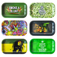 "Rolling Tray Square Size 11. 6"" *6. 3"" Metal tray Tob..."