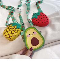 2020 Fruit silicone Avocad fille Porte-Monnaie Sac à main enfants Porte-monnaie pièce de monnaie Boîte Sac Kid Sac argent Sac à bandoulière bébé bourse