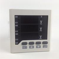 Misuratore di tensione AC per montaggio a pannello trifase Freeshipping, 0-450 V, alimentazione 220V V meter, display LED digitale V metri