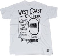 WCC West Coast Choppers T- Shirt Mask White NEW Summer Straig...