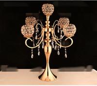 Yeni stil Custom made temizle çiçek düğün cam vazo ev dekorasyon için tall0 trompet cam vazo best0942