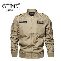 Gtime Dropshipping Men Jacket Plus Size 6XL Chaqueta Táctica Casaco Hombre Pilot Chaquetas Hombre XJJ108