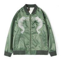 Мужские куртки Kimsere мужчины мода хип-хоп бомбардировщик с вышивкой Привет Улица вышитый летчик пилот Верхняя одежда Varsity бейсбольная куртка