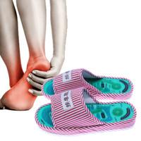KONGDY Punti di Agopressione Scarpe Massaggio 1 Paia Riflessologia Magnetica Pantofole Sollievo Dal Dolore Piede Rilassamento Scarpe Sanitarie C18122801