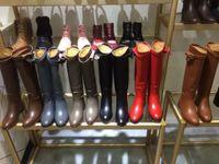 concepteur 12luxury Top qualité Femmes gaufrage Lettre Casual longues bottes en cuir noir véritable LAURÉAT PLATEFORME DESERT BOOT birkin