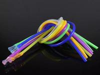 50cm Silicone tube tuyau flexible Narguilé seau accessoires qualité alimentaire haute température sans goût transparent couleur paille