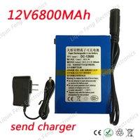 Groothandel 20 stuks / partij 12V 6800mAh oplaadbare lithium polymeer Li-ion batterij aanvragen voor videobewakingscomputer met laadloze belasting