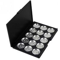 10 PC / profesional de la porción vacía compone la caja sartenes de aluminio paleta de pigmentos de maquillaje DIY 15 Rejilla de belleza Tools1