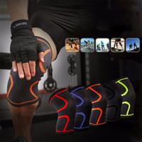Thefound Mode Silicone Genou Manches Soutien Brace course Manches Sport Hommes GYM élastique jambe rotule compression wrap protecteur