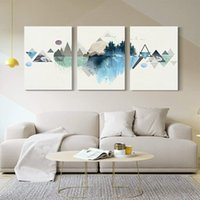 거실 장식을 매달려 집 장식에 사용되는 캔버스에 인쇄 된 나무 프레임, 3 벽 예술 잉크 아트 그림