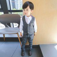 2019 nuevos Conjuntos de ropa para niños Chaleco + pantalones 2 unids  Trajes de niños Ropa b14c75630