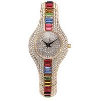 Beste verkaufende Luxuxdesignerschmucksachen-volle Diamant-Art- und Weiseuhr-Frau Iced heraus Bling Diamant-Uhr-Geschenk-Idee