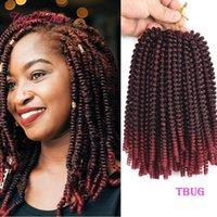 tom três extensões de cabelo tranças torção Primavera crochê ombre onda saltitante loira com extensões de cabelo pre tiwsted Xpression trançar o cabelo