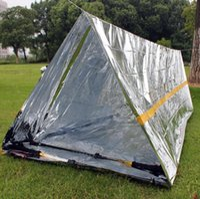 캠핑 텐트 스포츠 야외 응급 센터 240 * 160cm LXL961Q 방수 은색 마일 라 (Mylar) 열 생존 대피소 비상 대피소