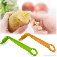 Manual de patata espiral Tornillo máquina de cortar de la hoja de la mano máquina de cortar del cortador de zanahoria del pepino espiral cuchillo de cocina Accesorios Herramientas