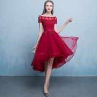 新しいスキニーワンショルダーイブニングドレス春トリムイブニングドレスショート