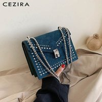 CEZIRA Luxury PU Suede Leather Messenger Bags For Women Fash...