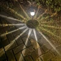 Luces LED del césped solar Light Garden Outdoor Sun Lights Lámparas de corredor Lámpara de fiesta de jardín al aire libre Lámpara de solar con energía solar Lámparas solares blancas