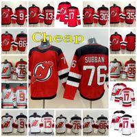 New Jersey Devils Hockey 76 PK Subban Jersey 13 Nico Hischier 30 Martin Brodeur 35 Cory Schneider 86 Jack Hughes Taylor Hall Wayne Simmonds