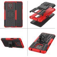 Téléphone antichocs Case Pour Xaiomi redmi Remarque 9S double couche de protection de cas hybride Béquille armure pour Xiaomi redmi Note 9 Pro Max