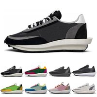 2020 LDV Waffle Running Shoes for Men Women white Nylon grey...