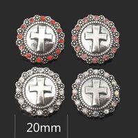 Wholesale w268 Flower 3D 18mm 25mm 30mm Metal Snap Button For Bracelet Necklace Interchangeable Jewelry Women Accessorie Findings