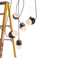 Modern Magic Bean Metal Sarkıt Ev Yaratıcı Dekor Yatak Odası Salon Tavan Işık Armatür PA0661
