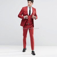Newest One Button Groomsmen Shawl Lapel Wedding Groom Tuxedos Men Suits Wedding Prom Dinner Best Man Blazer(Jacket+Tie+Vest+Pants) 573