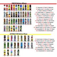 79 Designs 18650 20700 21700 Battery Wrap PVC Vape Skin Stic...