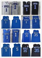 Duque Blue Devils Basquetebol Jersey Zion Williamson RJ Barrett Jersey Kyrie Irving Jayson Tatum Marvin Bagley III Blue Black Branco Camisa