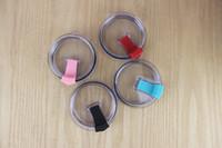록키 마운틴 텀블러 뚜껑 머그컵 뚜껑 스플래쉬 유출 증거 커버 스템리스 컵에 대한 20온스의 30온스 뚜껑 4 색 투명 커버