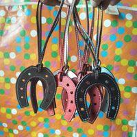 Borsa in pelle di cavallo per zoccoli di cavallo PU portachiavi borsa portachiavi di donne di fascino Accessori J184 Pendant