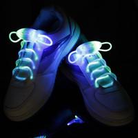 500pcs (250 쌍) LED 깜박이는 신발 끈 광섬유 신발 끈 빛나는 신발 끈을 켜기 신발 레이스