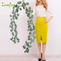 Zonaflor الاصطناعي شجرة الكينا أوراق إكليل الحرير فو فاينز الخضار اكليل 61/2 قدم الزفاف خلفية حائط المنزل الديكور T191102