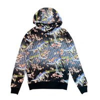Mens Designer Jackets Hooded With Dinosaur Print Cherry Flow...