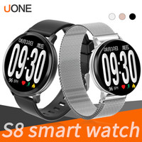 S8 Smart Watch rastreador de ejercicios Pulsera de ritmo cardíaco smartwatch Monitor IP67 Paso impermeable para apple watch PK DZ09 ios teléfono inteligente android