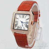 2019 nagelneue Frauen-Uhr-Quarz-Bewegungs-Chronograph Lederarmband Uhr relogies Uhren beste Geschenke für Luxus Handgelenk des Mädchens