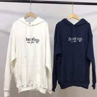 19FW European Luxury Hoodies Alphabetic Embroidered Garments...